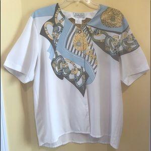 Kathy Che Decorative Blouse Women Size 16